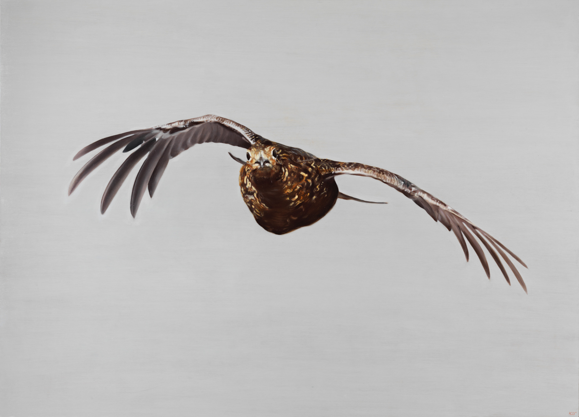 grouse in flight oil painting sporting art