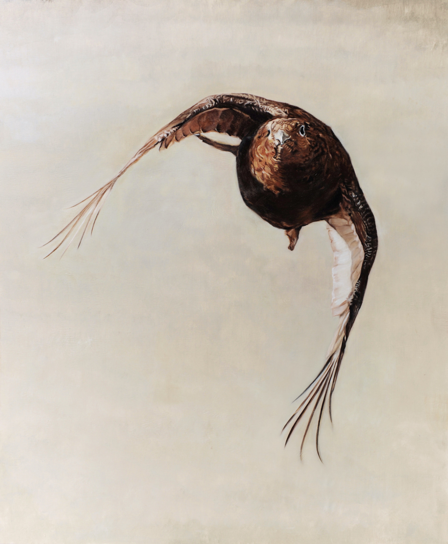Grouse in flight painting game birds sporting art